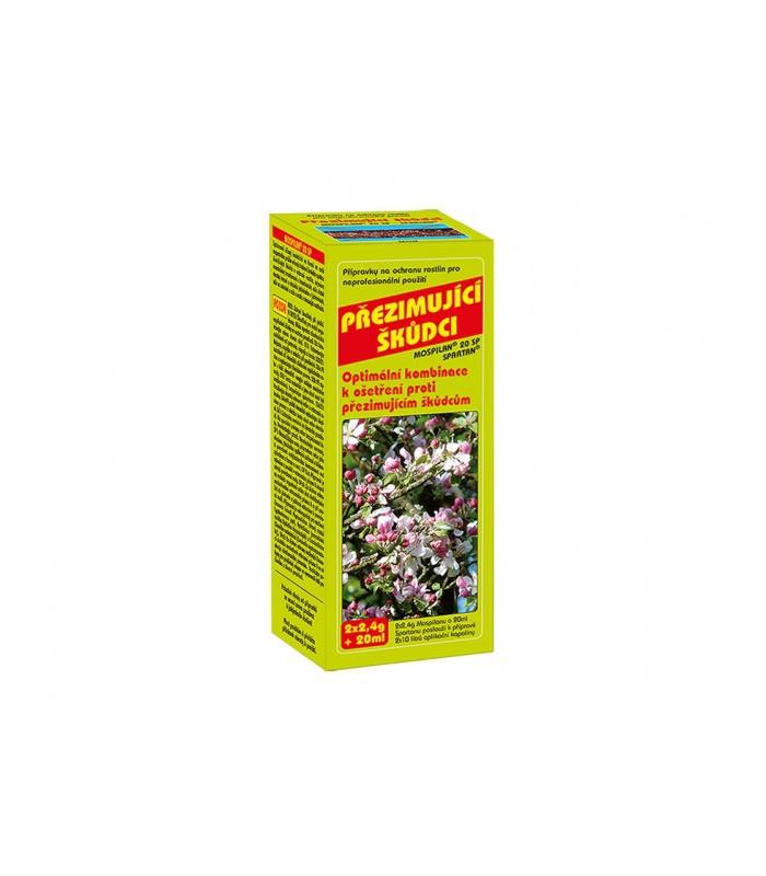 Přípravek proti přezimujícím škůdcům - 2x2,4g+20ml - ochrana rostlin - 1 ks