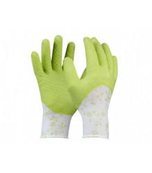 Pracovní rukavice dámské Flower zelenkavé - Pomůcky k pěstování - 1 ks